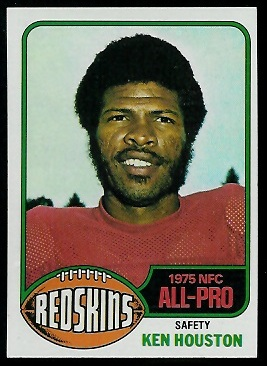 Ken Houston 1976 Topps football card