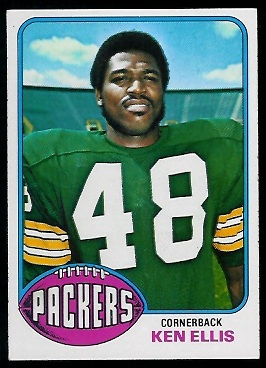 Ken Ellis 1976 Topps football card