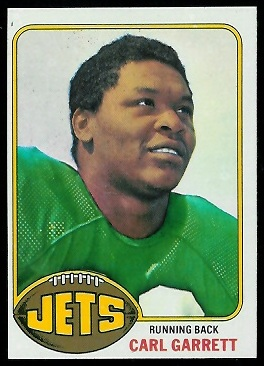 Carl Garrett 1976 Topps football card