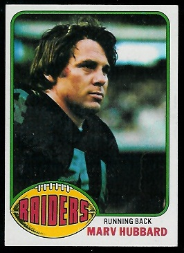 Marv Hubbard 1976 Topps football card