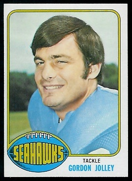 Gordon Jolley 1976 Topps football card