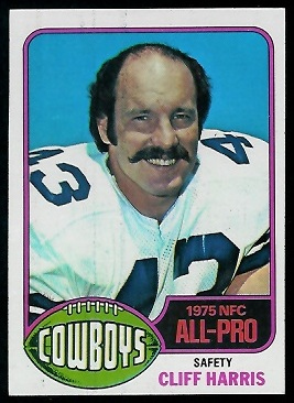 Cliff Harris 1976 Topps football card