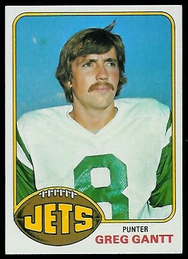 Greg Gantt 1976 Topps football card