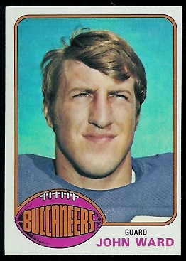 John Ward 1976 Topps football card