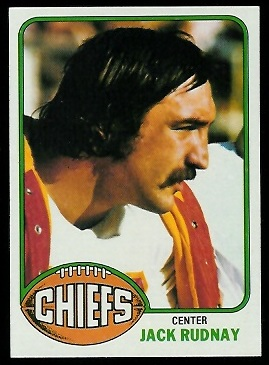 Jack Rudnay 1976 Topps football card