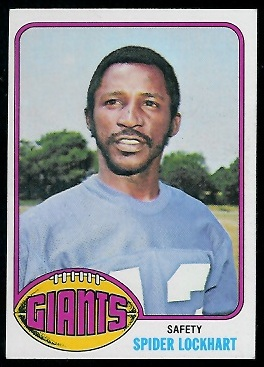 Spider Lockhart 1976 Topps football card