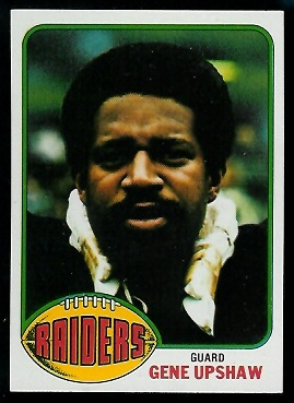 Gene Upshaw 1976 Topps football card