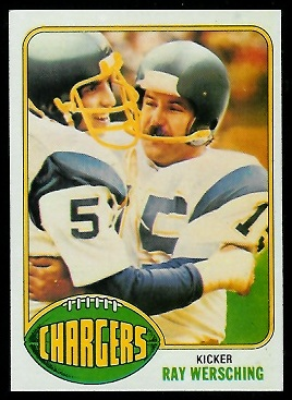 Ray Wersching 1976 Topps football card