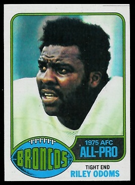 Riley Odoms 1976 Topps football card