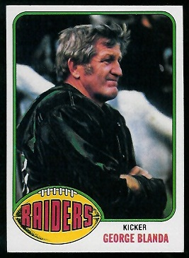 George Blanda 1976 Topps football card