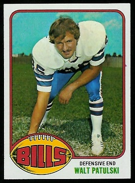Walt Patulski 1976 Topps football card