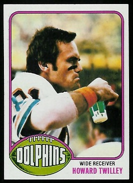 Howard Twilley 1976 Topps football card