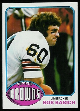 Bob Babich 1976 Topps football card