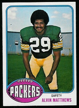 Al Matthews 1976 Topps football card