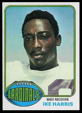 Ike Harris 1976 Topps football card
