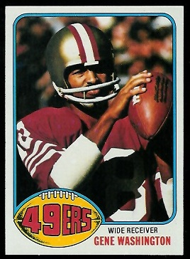 Gene Washington 1976 Topps football card