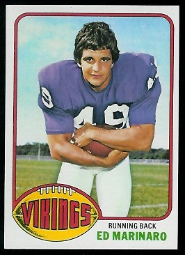 Ed Marinaro 1976 Topps football card