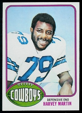 Harvey Martin 1976 Topps football card