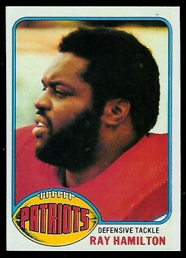 Ray Hamilton 1976 Topps football card