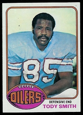 1976 Topps Tody Smith football card