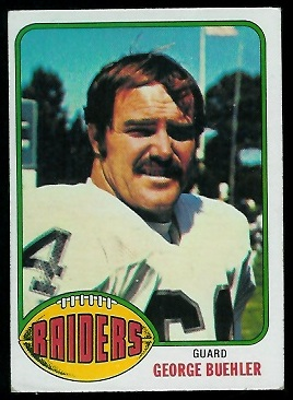 George Buehler 1976 Topps football card