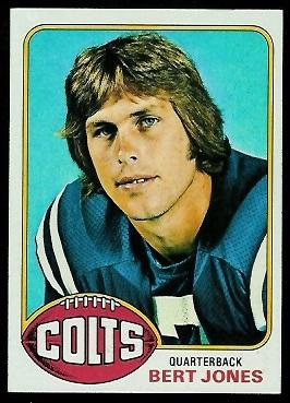 Bert Jones 1976 Topps football card