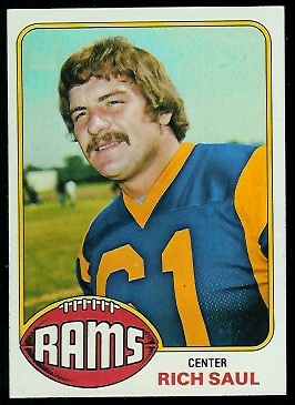 Rich Saul 1976 Topps rookie football card