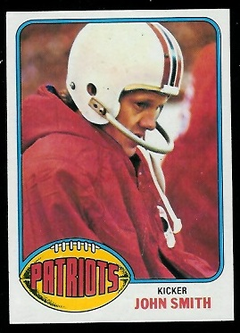 John Smith 1976 Topps football card