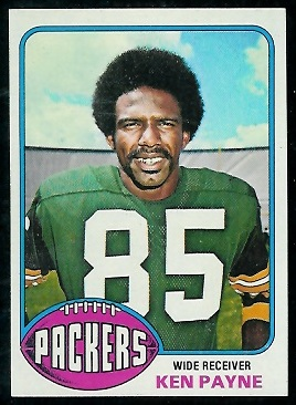 Ken Payne 1976 Topps rookie football card