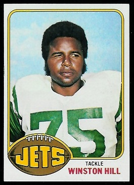 Winston Hill 1976 Topps football card