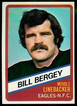 Bill Bergey 1976 Wonder Bread football card