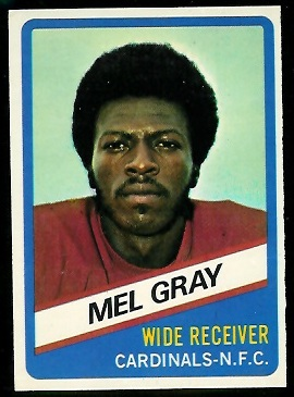Mel Gray 1976 Wonder Bread football card