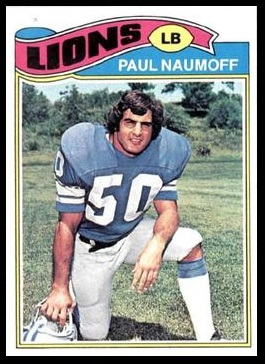 Paul Naumoff 1977 Topps football card