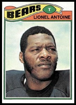 Lionel Antoine 1977 Topps football card