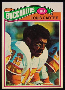 Louis Carter 1977 Topps football card