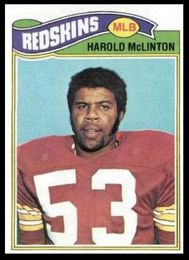 Harold McLinton 1977 Topps football card