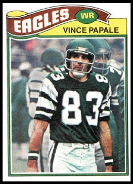 Vince Papale 1977 Topps football card