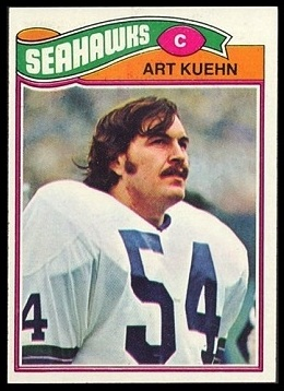 Art Kuehn 1977 Topps football card
