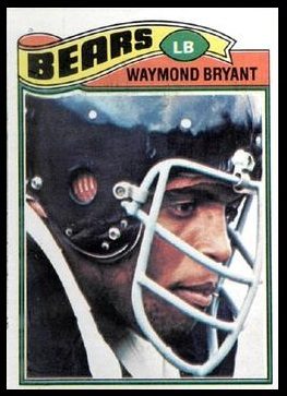 Waymond Bryant 1977 Topps football card