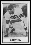 Bill Willis 1977 Touchdown Club football card