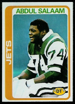 Abdul Salaam 1978 Topps rookie football card
