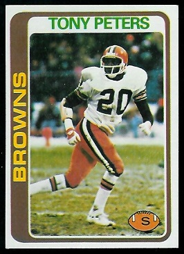 Tony Peters 1978 Topps rookie football card