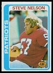 Steve Nelson 1978 Topps football card