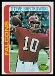 Steve Bartkowski 1978 Topps football card