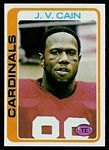 J.V. Cain 1978 Topps football card