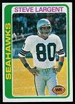 Steve Largent 1978 Topps football card