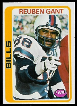 Reuben Gant 1978 Topps football card