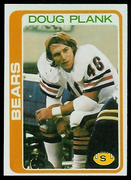 Doug Plank 1978 Topps football card