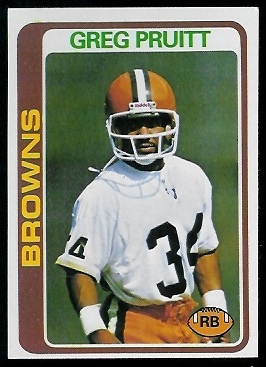 Greg Pruitt 1978 Topps football card