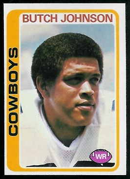 Butch Johnson 1978 Topps football card